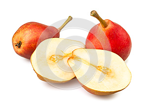 Cut Pears Royalty Free Stock Image - Image: 26063376