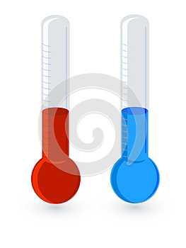 Thermometer Hot Vs Cold Stock Images - Image: 26064364