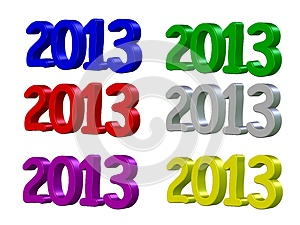 Happy New Year 2013 In 3D Royalty Free Stock Image - Image: 26065476