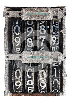 Antique Flip Number Analog Display Royalty Free Stock Photography - Image: 26083887