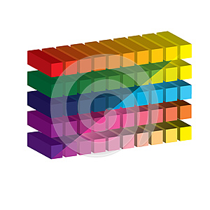 Set Of Vibrant Glossy 3D Cubes. . Stock Photography - Image: 26088412