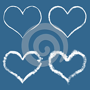 Clouds In The Form Of Hearts Stock Images - Image: 26090464