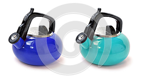 Blue Water Pitchers Royalty Free Stock Image - Image: 26098936