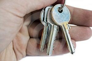 Hand holding keys Stock Image