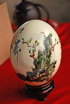 Ostrich Egg Painting Royalty Free Stock Image - Image: 2617366