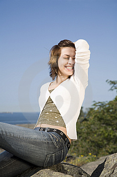 Woman Spending Summerday Stock Photo - Image: 2618990