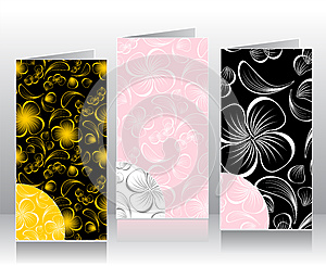 Set Seamless Patterns With Flowers Petals Royalty Free Stock Photo - Image: 26101265