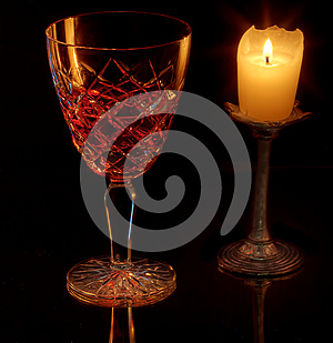 Wine And Candle Royalty Free Stock Photography - Image: 26102627