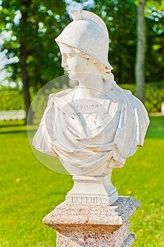 Tsarskoye Selo. Catherine Park. Bust Bellum Stock Photo - Image: 26106730