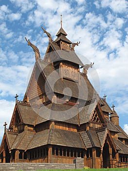Norwegian Stave Church Close-up Royalty Free Stock Photos - Image: 26120248