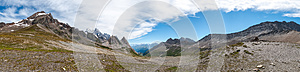 Alps, France (Col De Seigne) - Panorama Royalty Free Stock Image - Image: 26126476