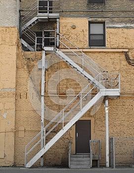 Outside Alley Fire Escape Stock Photo - Image: 26135980