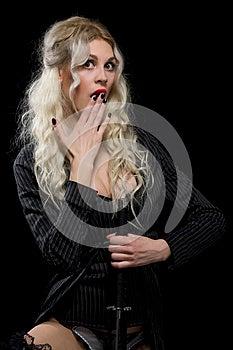 Woman And Sword Stock Photos - Image: 26145323