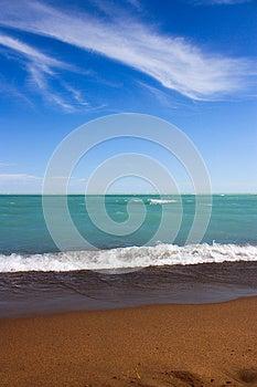 Foamy Waves On Shore Stock Image - Image: 26154471
