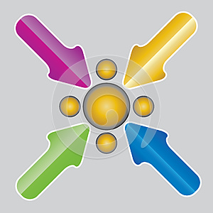 Vector Arrows . Stock Image - Image: 26158681