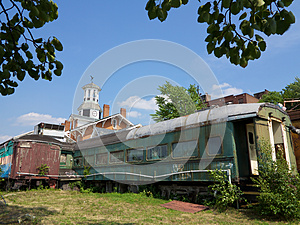 Abandoned Rail Car Royalty Free Stock Images - Image: 26165059