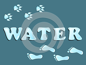 Waterdrops Footprint Stock Images - Image: 26167734