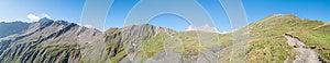 Alps, Francja - Panorama (za Col Uroczystą Fretką) Obraz Stock - Obraz: 26169811