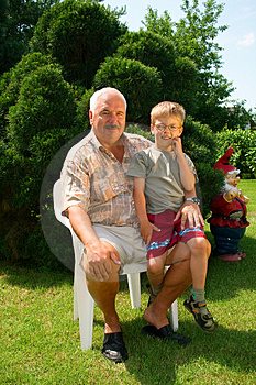Grandfather and grandson Free Stock Image