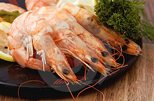 Shrimps Cooked In Shell Royalty Free Stock Photos - Image: 2627038