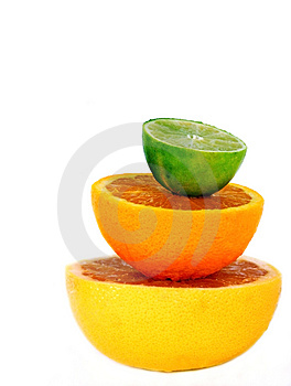 Balanced Fruit Royalty Free Stock Image