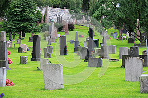Protestant Cemetery Stock Image - Image: 26200411