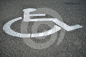 Signage For Handicap On The Road Stock Photography - Image: 26203262