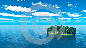 Tropisch Eiland Met Palmen Royalty-vrije Stock Fotografie - Afbeelding: 26210697