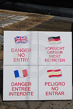 Danger No Entry Signs Royalty Free Stock Photography - Image: 26223707