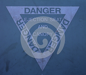 Ejection Seat Warning Sign Royalty Free Stock Photo - Image: 26227625