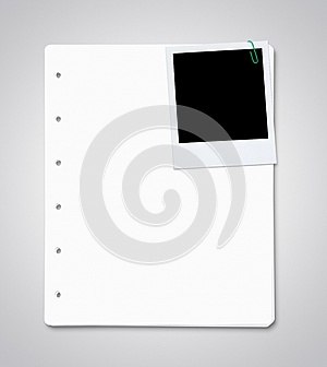 Paper Sheets With Blank Instant Photo Stock Photography - Image: 26232962