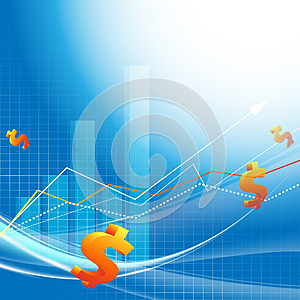 Growth Statistic Financial Frame. Eps10 Royalty Free Stock Image - Image: 26248386