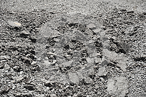 Mixed Small Gravels And Asphalt Royalty Free Stock Photo - Image: 26255855