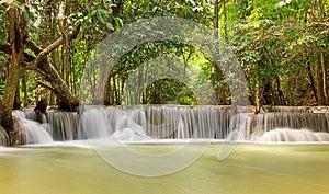 Deep Forest Waterfall, Kanjanaburi Thailand Stock Images - Image: 26257124