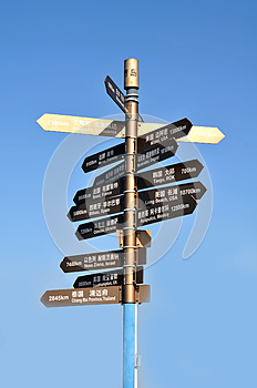 Signpost Stock Photography - Image: 26265782