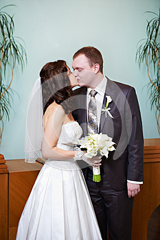 Kiss Bride And Groom Royalty Free Stock Image - Image: 26266866
