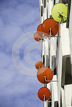 Antenna Dishes Royalty Free Stock Photography - Image: 26271747