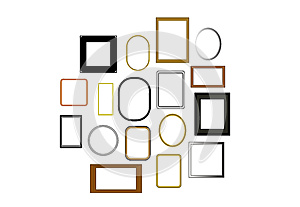 Vector Picture Frames Royalty Free Stock Images - Image: 26273579