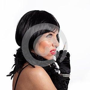 Mujer Vestida En Ropa De Los Años 20. Imagen de archivo libre de regalías - Imagen: 26283436