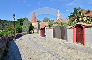 Sighisoara Tower Street Stock Image - Image: 26284931
