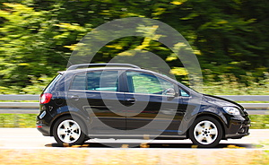 Car On Highway Royalty Free Stock Photo - Image: 26291155