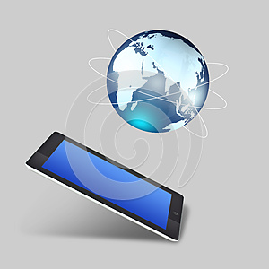 Tablet With Social Network Concept Royalty Free Stock Photo - Image: 26291325