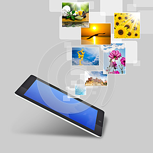 Realistic Tablet Pc Computer With Blank Screen Royalty Free Stock Photo - Image: 26291345