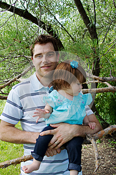 Dad Holding Child Royalty Free Stock Image - Image: 26294336