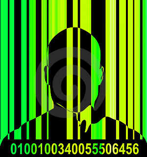 Barcode And Man 10 Stock Photography - Image: 2635022
