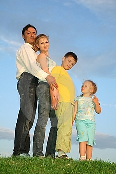 Family With Two Children Royalty Free Stock Images - Image: 2638169