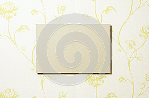 Cardboard Rectangle On Wallpaper 02 Royalty Free Stock Photos - Image: 26309698