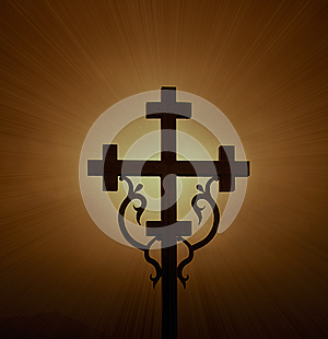 Glowing Cross Stock Images - Image: 26346264