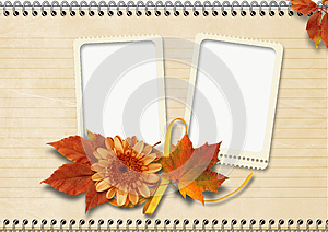 Vintage  Notebook Page With Frames Royalty Free Stock Photos - Image: 26354138