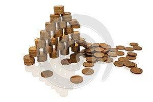 Crash Financial Pyramid Stock Photos - Image: 26360943